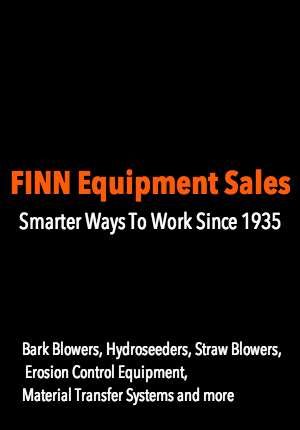 Finn Equipment Sales ~ bark blowers, hydroseeders, straw blowers, erosion control equipment