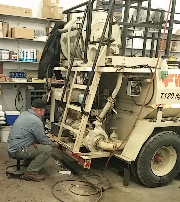 Spring hydroseeder maintenance